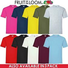 Fruit Of The Loom Mens Womens T Shirts 100% Cotton Plain Short Sleeve Tee Shirt