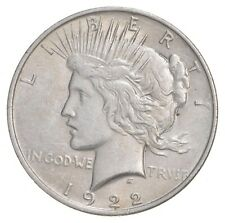 Choice AU/UNC 1922 Peace Silver Dollar - 90% Silver *366