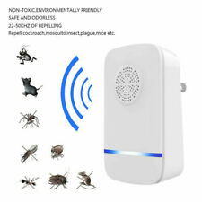 UK Plug Pest Spider Killer Ultrasonic Mosquito Repeller Anti Insect Rat Bug