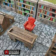 Library Furniture Set - Clorehaven Goblin Grotto Scatter D&D, DnD, Pathfinder