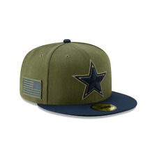 New Era NFL DALLAS COWBOYS Salute to Service 2018 Sideline 59FIFTY Game Cap NEU/