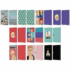 OFFICIAL JUSTIN BIEBER JUSTMOJIS LEATHER BOOK CASE FOR MICROSOFT SURFACE TABLETS