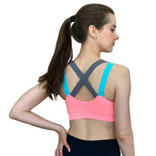 Sexy Sports Bra Top for Fitness Women Push Up Cross Straps Yoga Running Gym