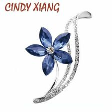 CINDY XIANG Rhinestone Flower Brooches For Women Simple Design Fashion Jewelry