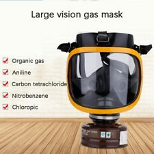 Large Field of View Filter Gas Mask Chemical Gas Dust Spray Paint Protective