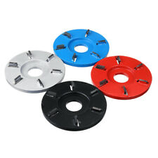 Flat 6-tooth Woodworking Plane Carving Disc Milling Cutter For 22mm Angle Grinde