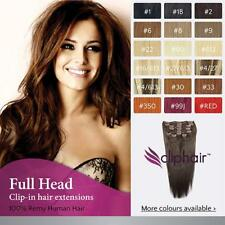 Full Head Clip in Remy Human Hair Extensions