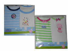 BOYS/GIRLS 2 PACK VEST TOPS PEPPA PIG/GEORGE PIG 2 3 4 5 & 6 YEARS OLD NEW