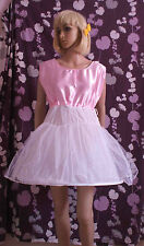 1 HOOPED NET UNDERSKIRT PETTICOAT SATIN  VEST TOP SISSY ADULT BABY MAID COSPLAY
