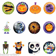 Haunted Happy Halloween Horror Foil Supershape Round Balloons All In One Listing