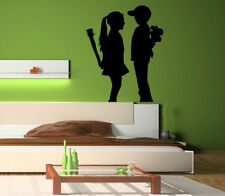 Fun contemporary wall theme Banksy Boy Meets Girl cute wall stickers fab decal