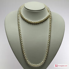 **MG** Collana Perle bianche TOP 7-7½mm L100 in Oro 18K
