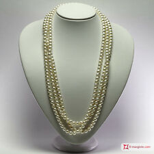 **MG** Collana Perle bianche TOP 7-7½mm L200 in Oro 18K