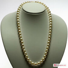 **MG** Collana Perle bianche TOP 10mm in Oro 18K