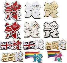 London 2012 Olympic Union Jack White Gold Tie Coat Pin Badge Christmas Gift