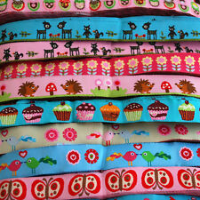 1 Metre Embroidery Woven Ribbon Trim Russian Doll Owl Bird Deer Cupcake Car Fish