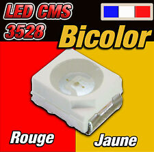 143# LED CMS 3528 bicolor rouge / jaune 10 à 100pcs -- red / yellow