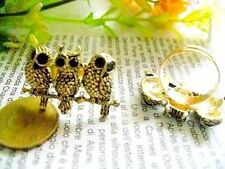 Vintage retro punk style owl owls adjustable ring multiple choices