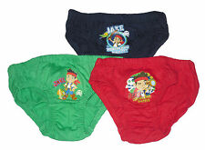 BOYS 3 PACK BRIEFS PANTS UNDERWEAR DISNEY JAKE AND THE NEVERLAND PIRATES