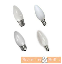 Opal Candle Bulbs | Incandescent | 25w 40w 60w BC SBC SES ES | Pack of 10