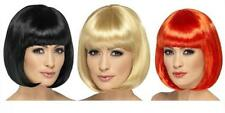 "LADIES SHORT BOB HAIR with FRINGE GIRLS PARTY WIG 12"" FANCY DRESS 7 x COLOURS"