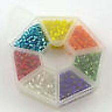 SEED BEAD ASSORTMENT WHEEL 4mm   (Various colour options)