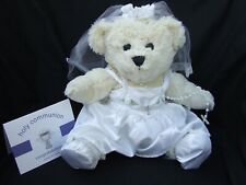 "FIRST HOLY COMMUNION GIFT FOR GIRLS. Cuddly Bear Wear holy communion 16"" bear"