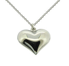 925 Sterling Silver Ladies Hollow Heart Pendant Necklace With Optional Chain