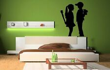 Banksy 'Boy Meets Girl' Wall Stickers Mural Decal! 60cm x 75cm. HIGH QUALITY UK