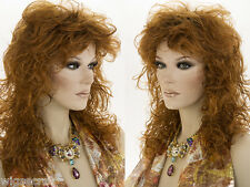 Long Layered Medium Wavy Curly Straight Blonde Brunette Red Wigs Rocker Look