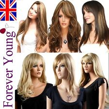 Wigs Ladies Long Fashion Full Wig Hair Blonde Black Brown Wig Wavy Curly Wigs