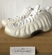 NIKE AIR FOAMPOSITE One WHITE OUT Sz US UK6 7 8 9 10 11 SILVER NRG 314996-100