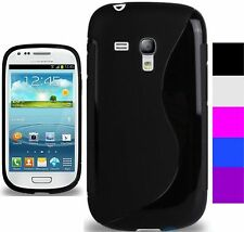 New Silicone Grip S Line Gel Case Cover for Samsung Galaxy S3 mini nd S4 mini