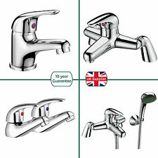 STUDIO BATHROOM BASIN SINK TAP CHROME MONO MIXER SINGLE LEVER HANDLE BATH FILLER