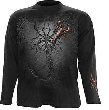Spiral Tribal Scorpion Langarm Shirt Skorpion Gothic Sweat M L XL XXL #3221 338