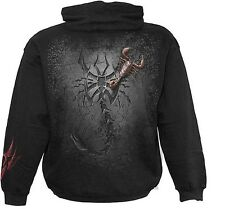 Spiral Tribal Scorpion Hoodie Sweat Shirt Gothic Skorpion Top #3221 424