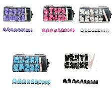 New Colored False French Nails Acrylic Artificial Nail Art Tips Full Cover