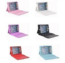 PU Leather Case Cover Built-in Bluetooth Wireless Keyboard for iPad Mini 2/3/4
