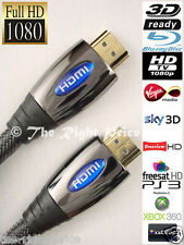 HDMI Lead / Cable to HDMI 3D HDTV FULL HD 1080p Gold Plated for XBOX 360 One TV