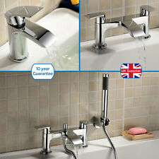 LIBRA WATERFALL BATHROOM TAP BASIN MONO, BATH FILLER & SHOWER MIXER SOLID BRASS