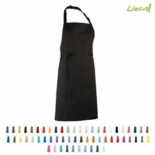 Full Bib Apron Work Wear Kitchen Cooking Crafts Tabard Waitress Baking Chef