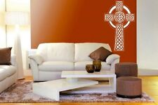 Ornamental Celtic Cross - Large Vinyl Wall Stickers Decal Decor. Many colours UK