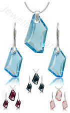 Beautiful Crystal Set, Swarovski De-Art - Sterling silver great for gift