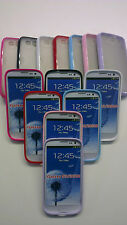 Transparent Frosted Hard Back Gel Bumper Case Cover fits Samsung Galaxy S3 i9300