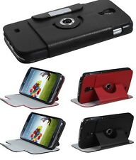 Samsung Galaxy S4 - PU LEATHER ROTATING FLIP POUCH STAND CASE COVER
