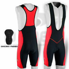 Mens Cycling Bib Tight Shorts Padded MTB Bike Legging Pant Red Size: M-L-XL