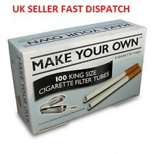 Make Your Own RIZLA CIGARETTE King Size FILTER TUBES... New Concept