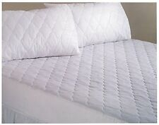 QUILTED MATTRESS PROTECTOR SINGLE DOUBLE KING SKS EMPEROR DEEP EGYPTIAN COTTON