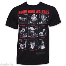 T-shirt The Walking Dead Know your Walkers facce Zombie Uomo ufficiale Serie tv