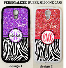 LOVE INFINITY PURPLE RED ZEBRA MONOGRAM Case For Samsung Galaxy S7 S6 NOTE 5 4 3